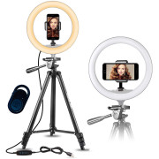 Ring Light Model 3120 dla YouTube i Tik Tok | Z podstawą max. 136 cm z pilotem Bluetooth