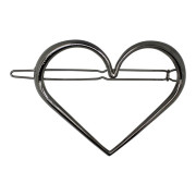 SOHO® Heart XL Metal Hair Clip - Silver