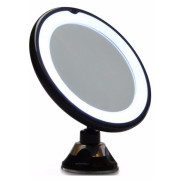 Uniq Makeup Mirror LED 10 X Magnification + Suction, Black