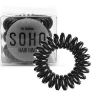 SOHO® Gumka do włosów Spirala, 3 szt. All Black