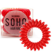 SOHO® Gumka do włosów Spirala, 3 szt. Strawberry Red